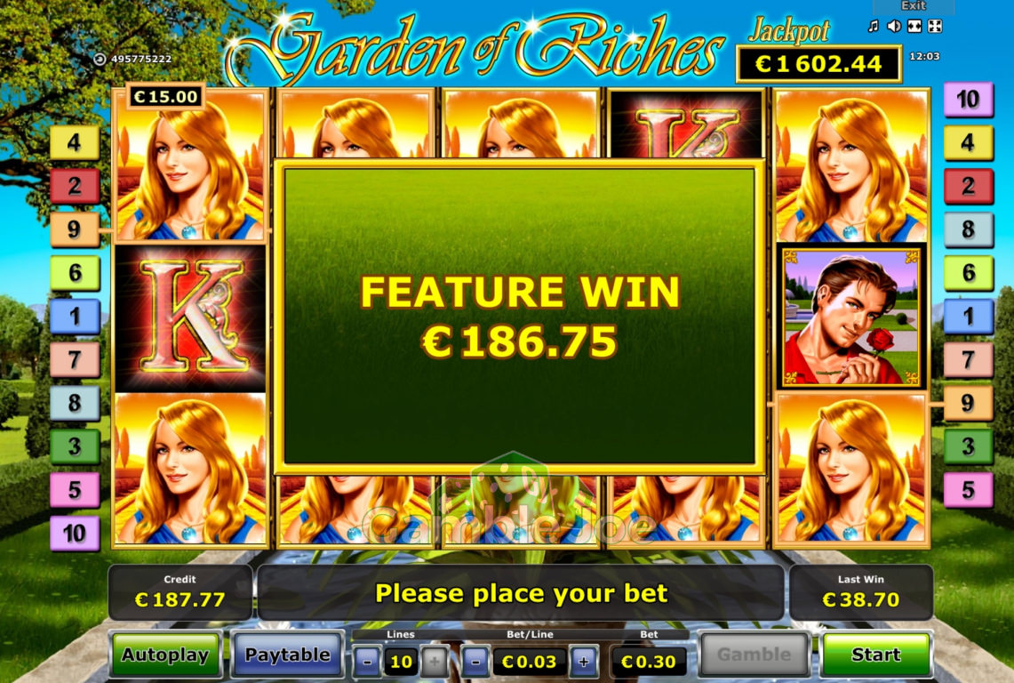 Garden of Riches Gewinnbild von counter