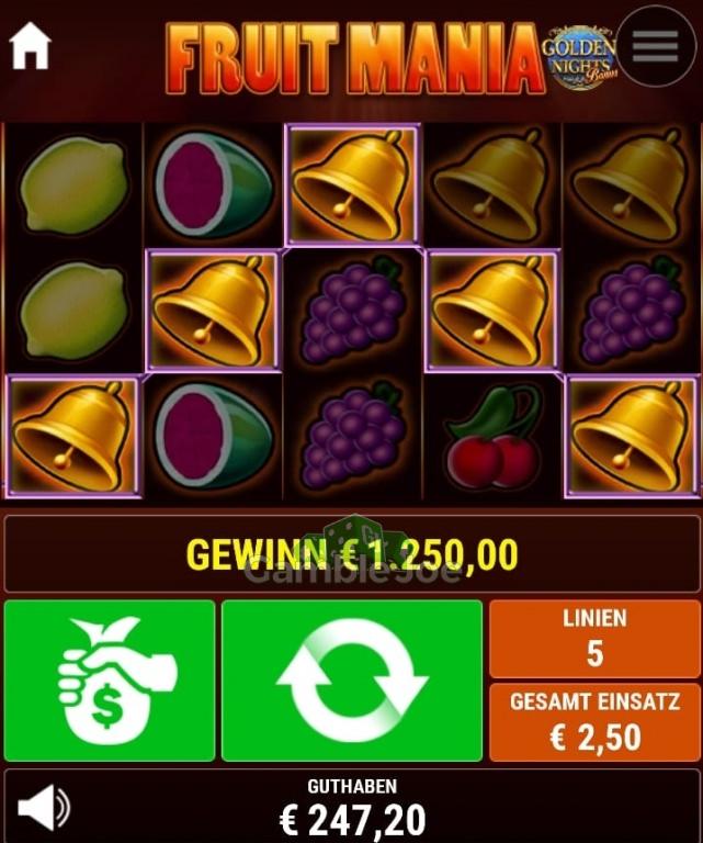 Fruit Mania Gewinnbild von Chantal
