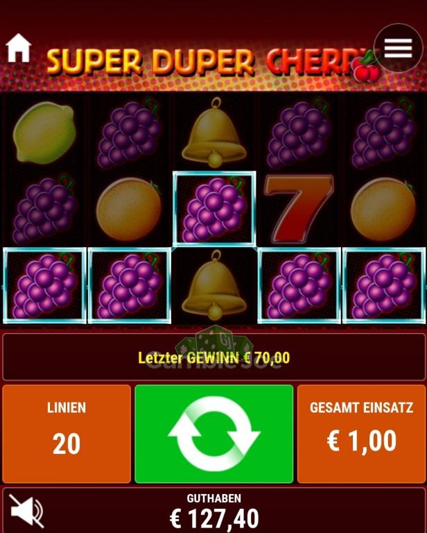 Super Duper Cherry Gewinnbild von Chantal