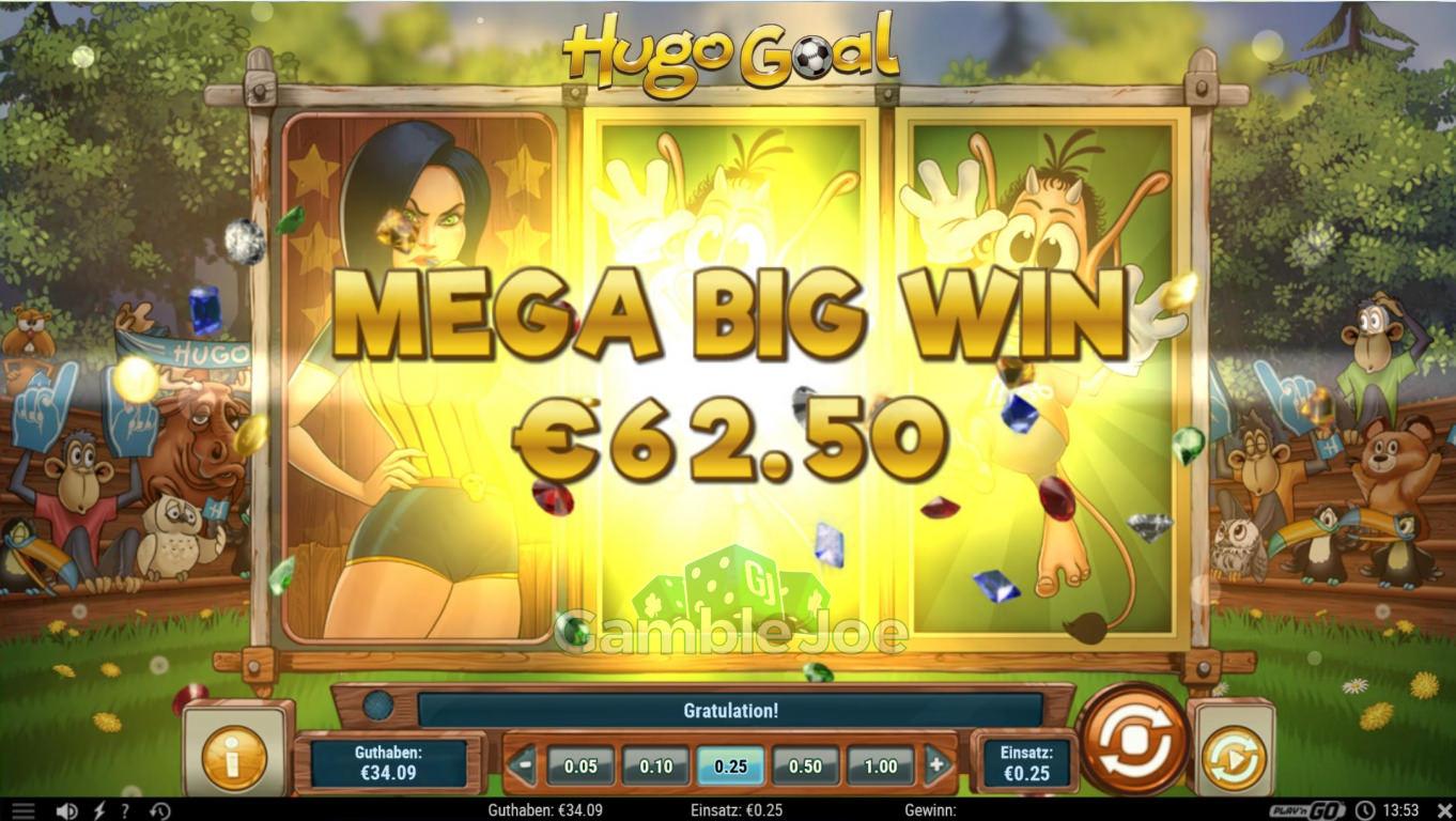 Hugo Goal Gewinnbild von Counter