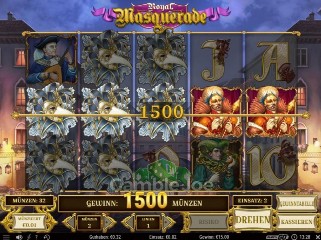 Royal Masquerade Gewinnbild von Knochen