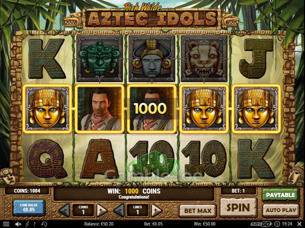 Aztec Idols Gewinnbild von Julian