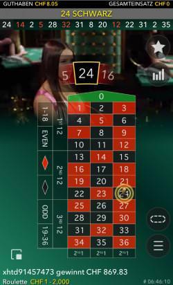 Live Roulette Gewinnbild