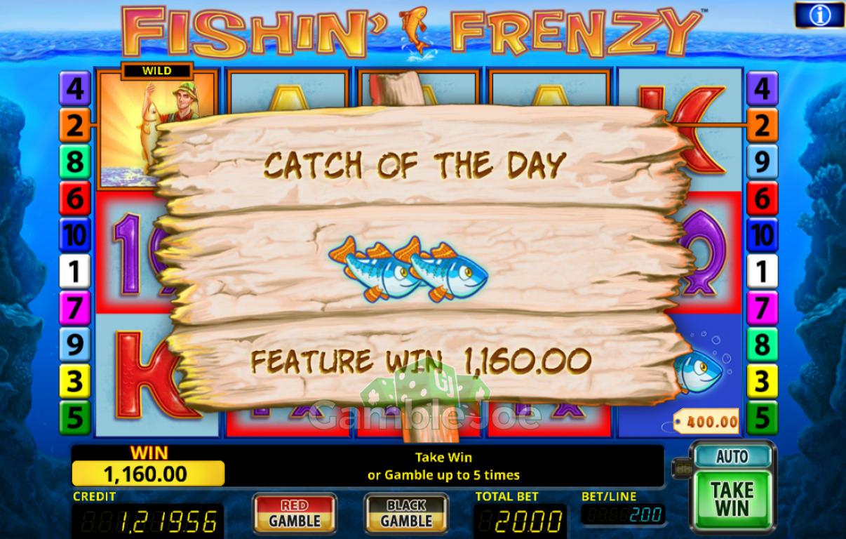 Fishin' Frenzy Gewinnbild von Drehmo