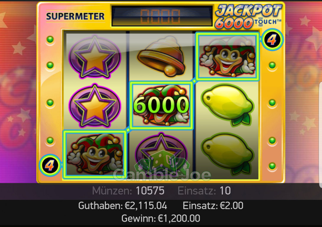 Jackpot Gewinn