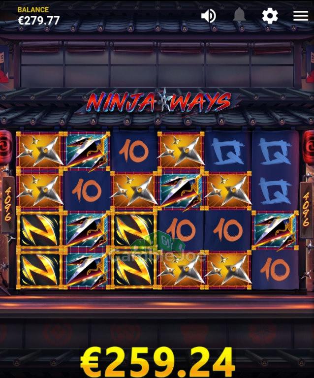 Ninja Ways Gewinnbild von Mitchmachine91