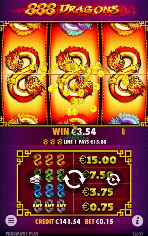 888 Dragons Gewinnbild von Emx81