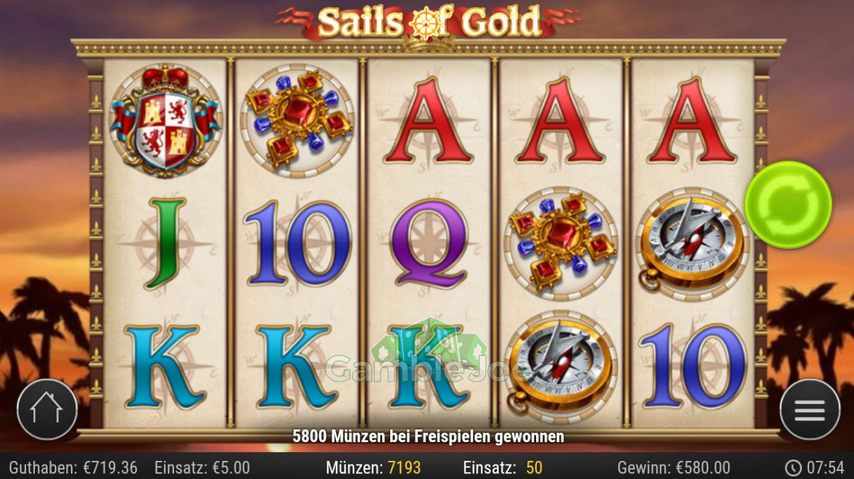 Sails of Gold Gewinnbild von RuhrPottProll