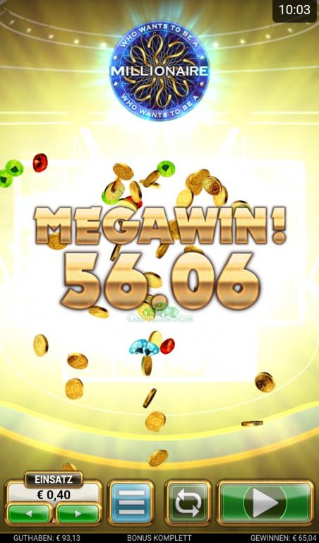 Who Wants to Be a Millionaire Gewinnbild von briniberlin86
