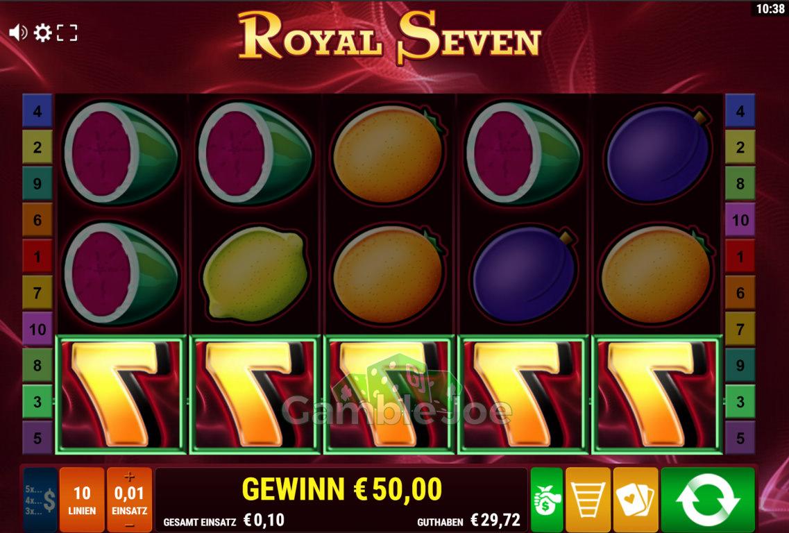 Royal Seven Gewinnbild von Wepala