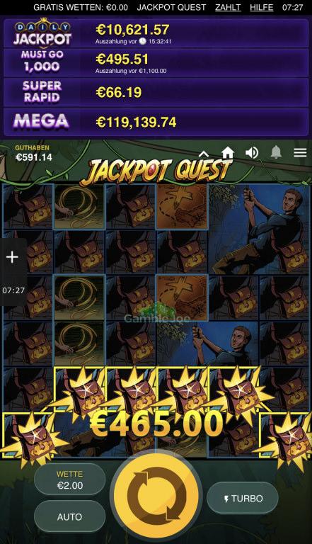 Jackpot Quest Gewinnbild von Nienchen1980