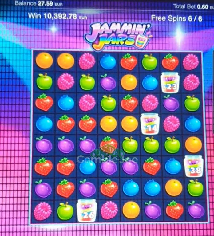 Jammin Jars Gewinnbild von Sizzling12