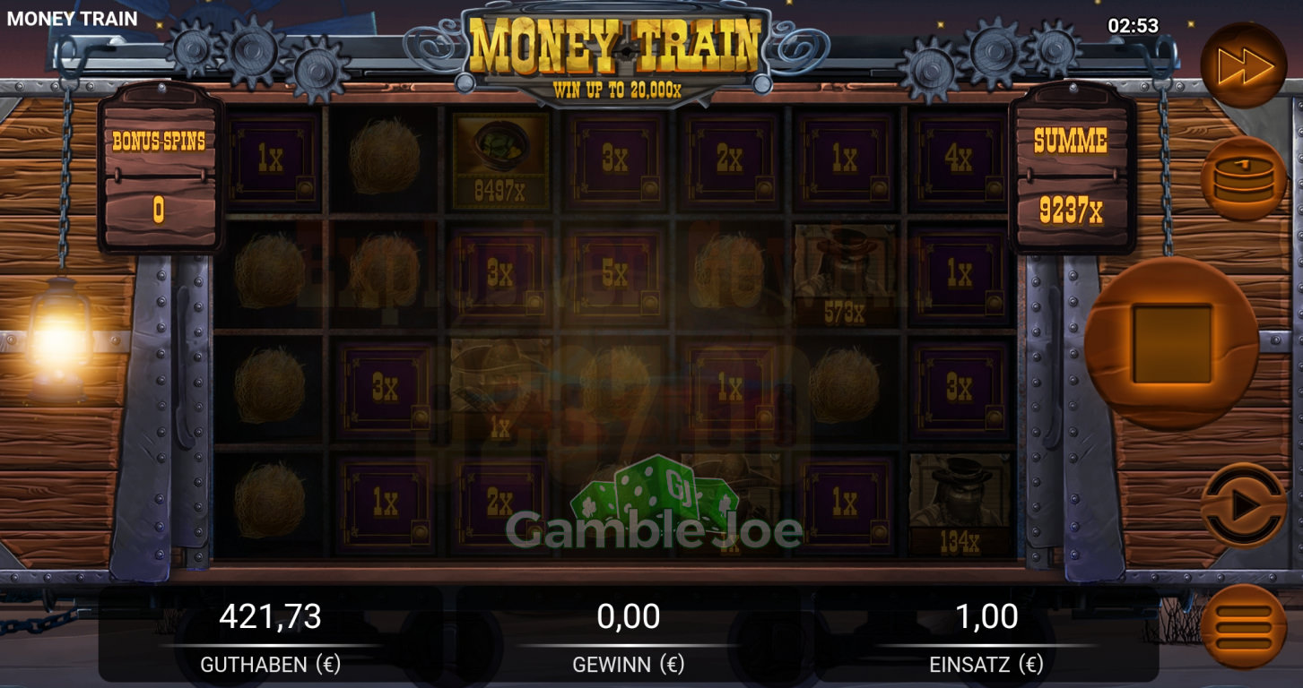 Money Train Gewinnbild von Tigerauge007
