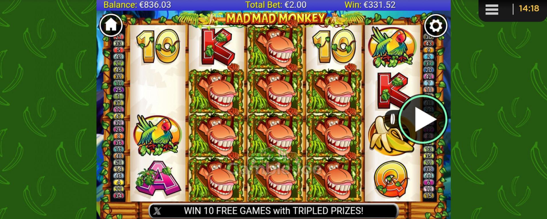 Mad Mad Monkey Gewinnbild von Meee88