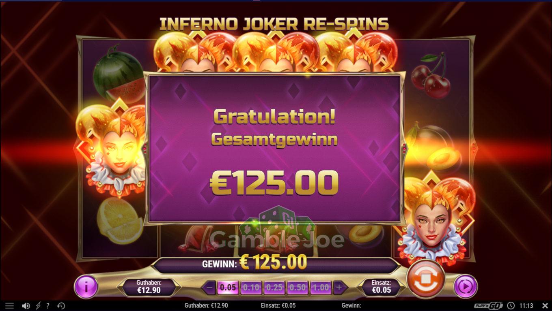 Inferno Joker Gewinnbild von Wepala