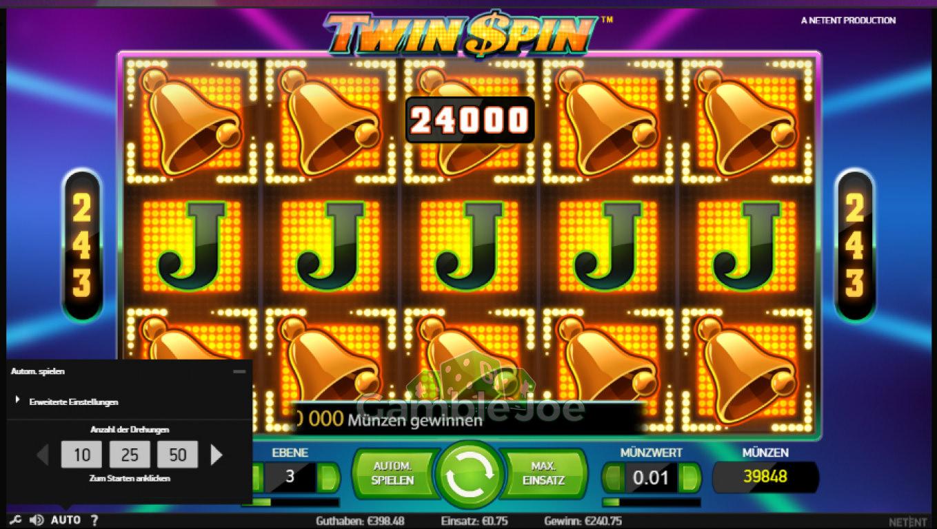 Twin Spin Gewinnbild von upola