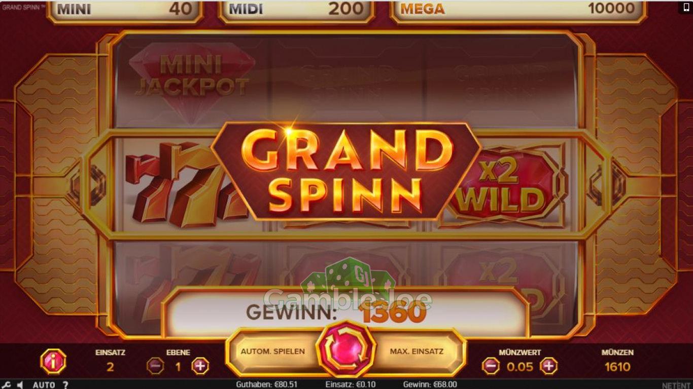 Grand Spinn Gewinnbild von Seniorfips