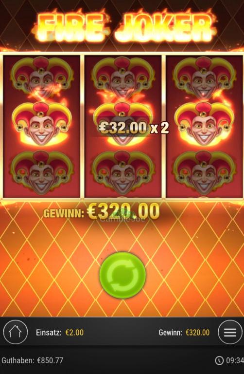 Fire Joker Gewinnbild von Chantal