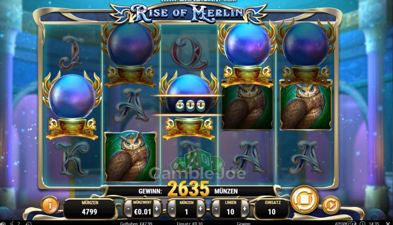 Rise of Merlin Gewinnbild von sonne10