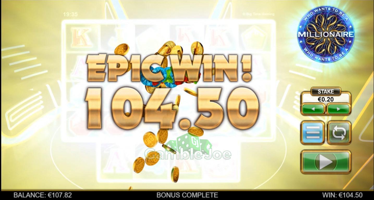 Who Wants to Be a Millionaire Gewinnbild von sonne10