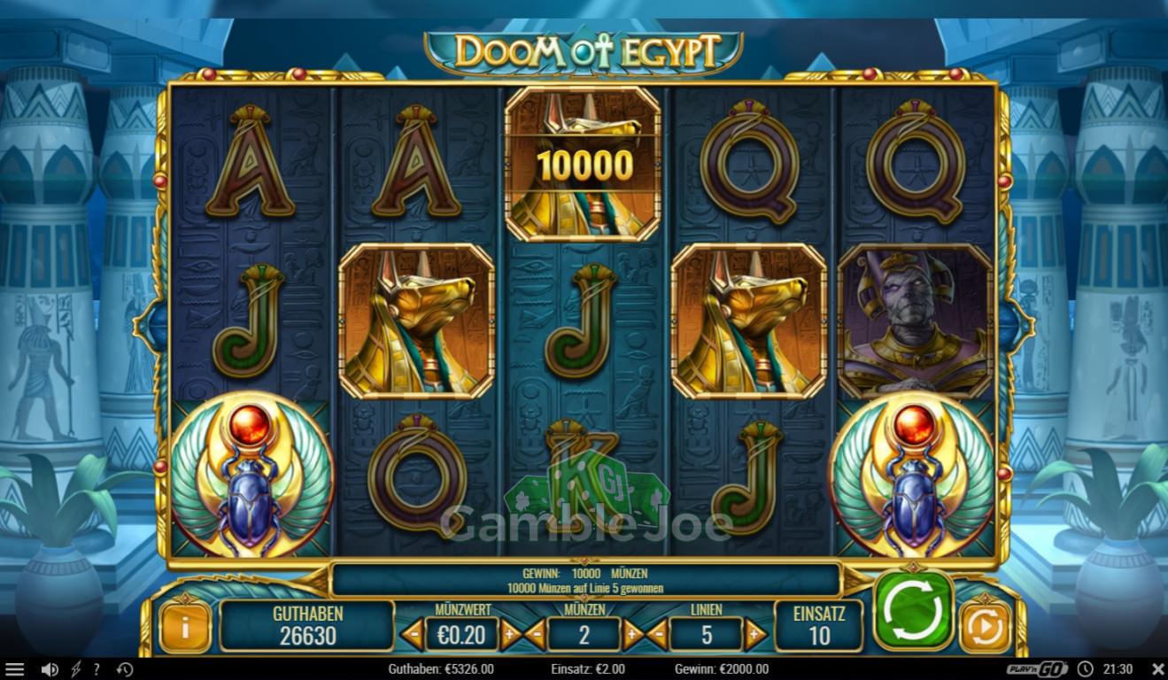 Doom of Egypt Gewinnbild von Lckydnz