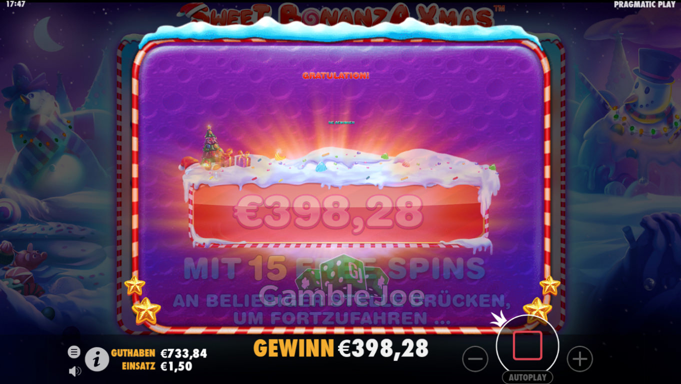 Sweet Bonanza Xmas Gewinnbild von krabbe666
