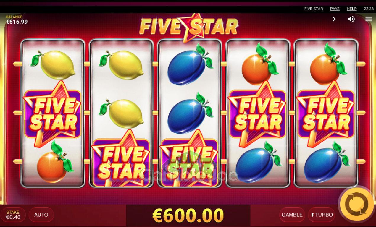 Five Star Gewinnbild von redfoxx