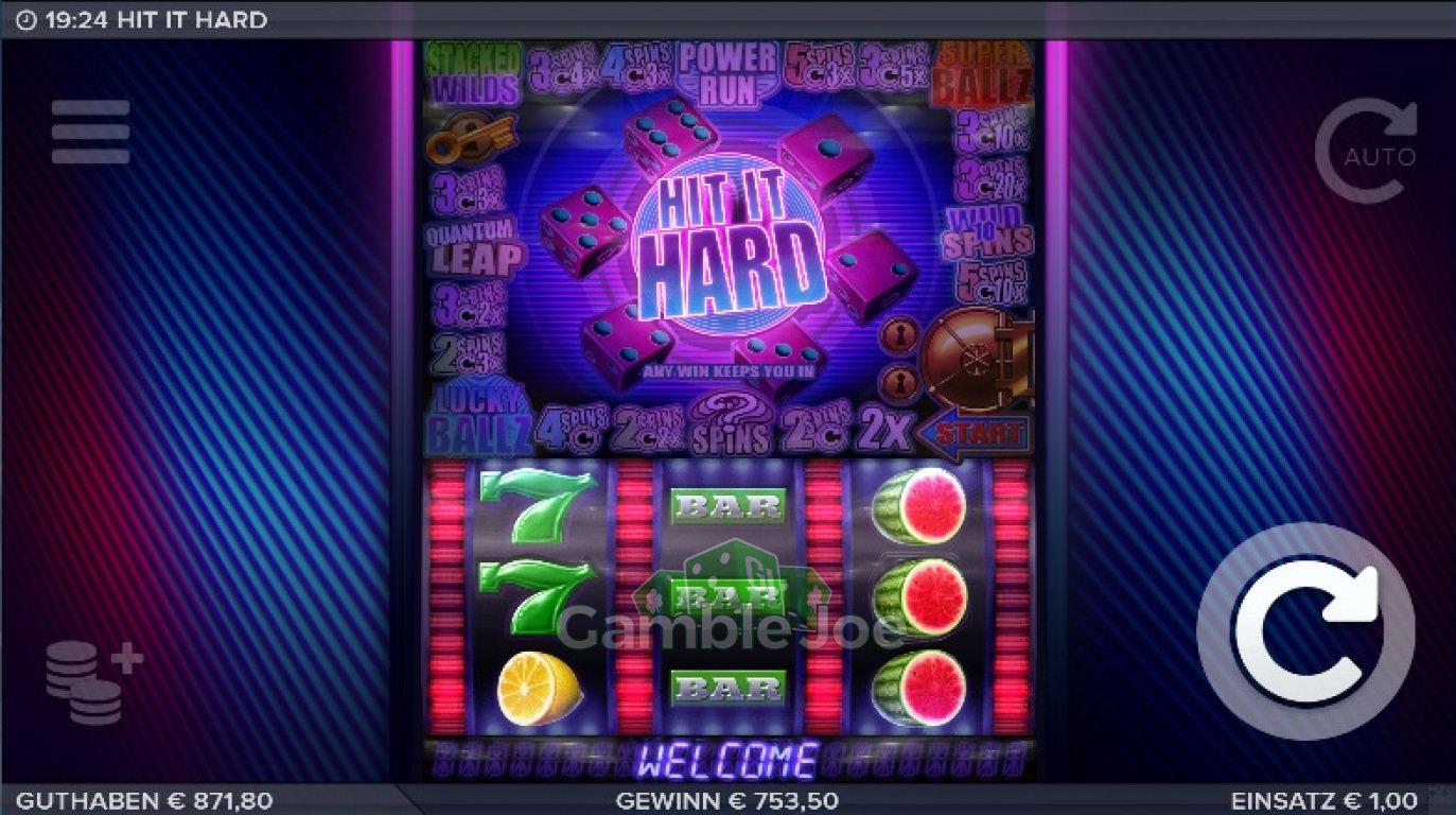 Hit it Hard Gewinnbild von Begbie