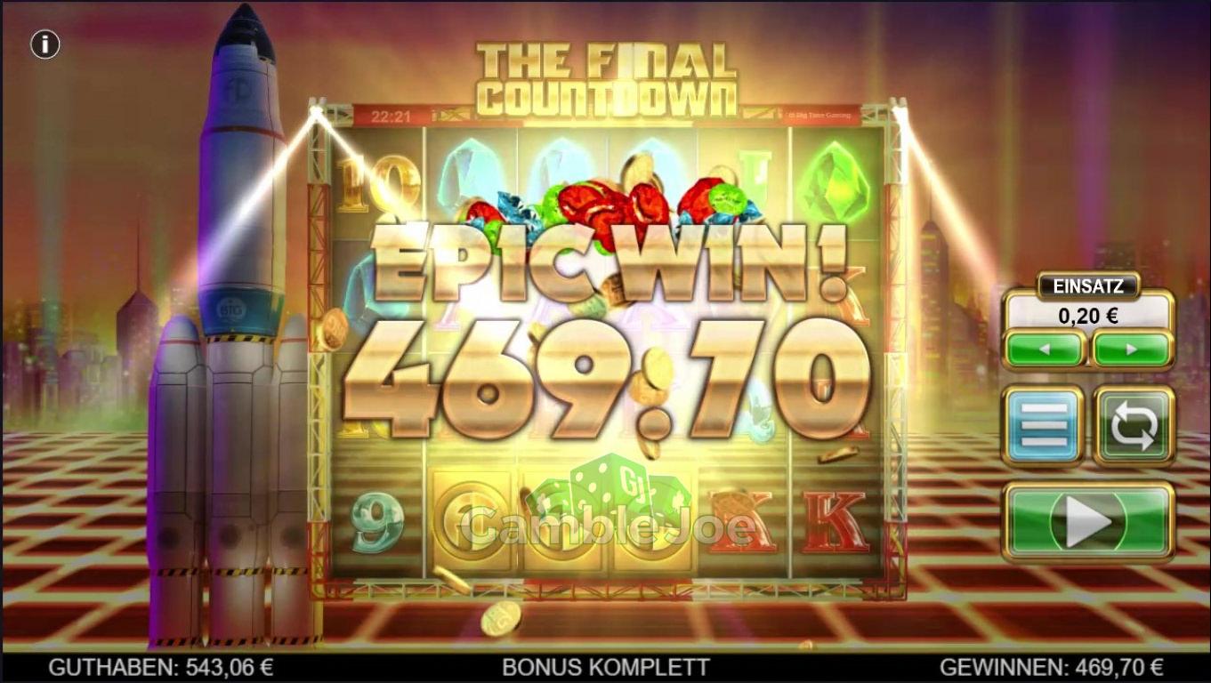 The Final Countdown Gewinnbild von sekZ89