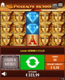 Pharao's Riches Golden Night's Gewinnbild
