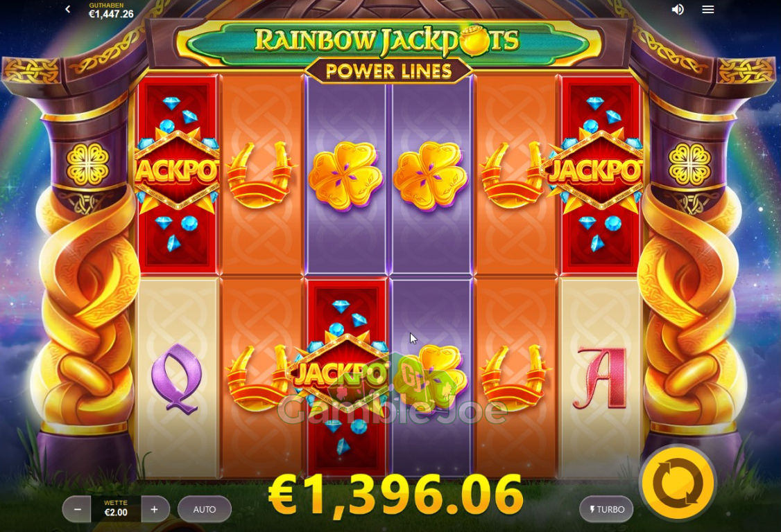 Rainbow Jackpots Power Lines Gewinnbild von alexj