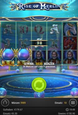 Rise of Merlin Gewinnbild