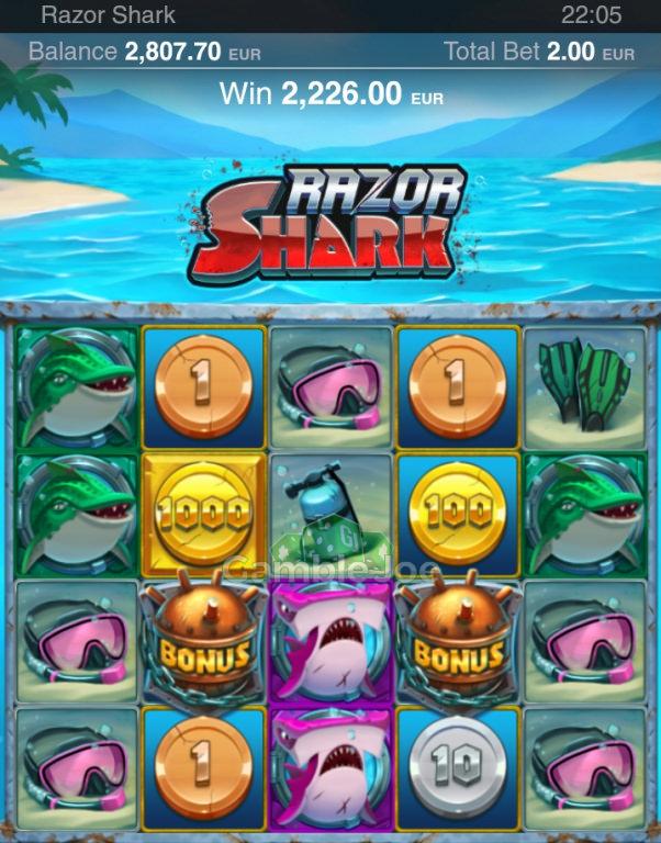 Razor Shark Gewinnbild von Rudi27