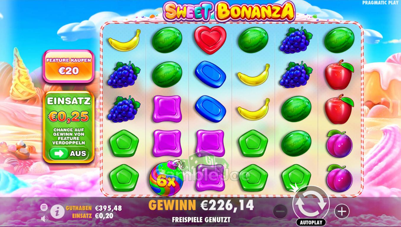 Sweet Bonanza Gewinnbild von Gamer777