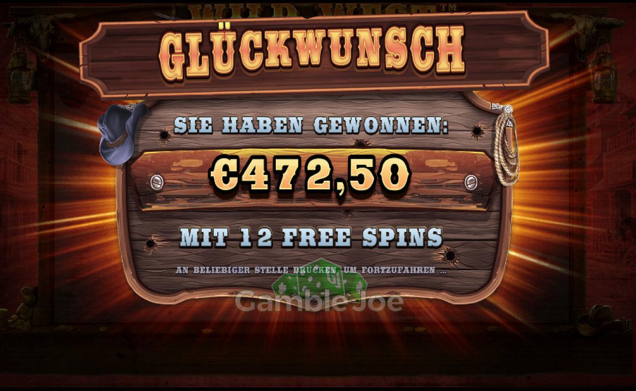 Wild West Gold Gewinnbild von Chris26