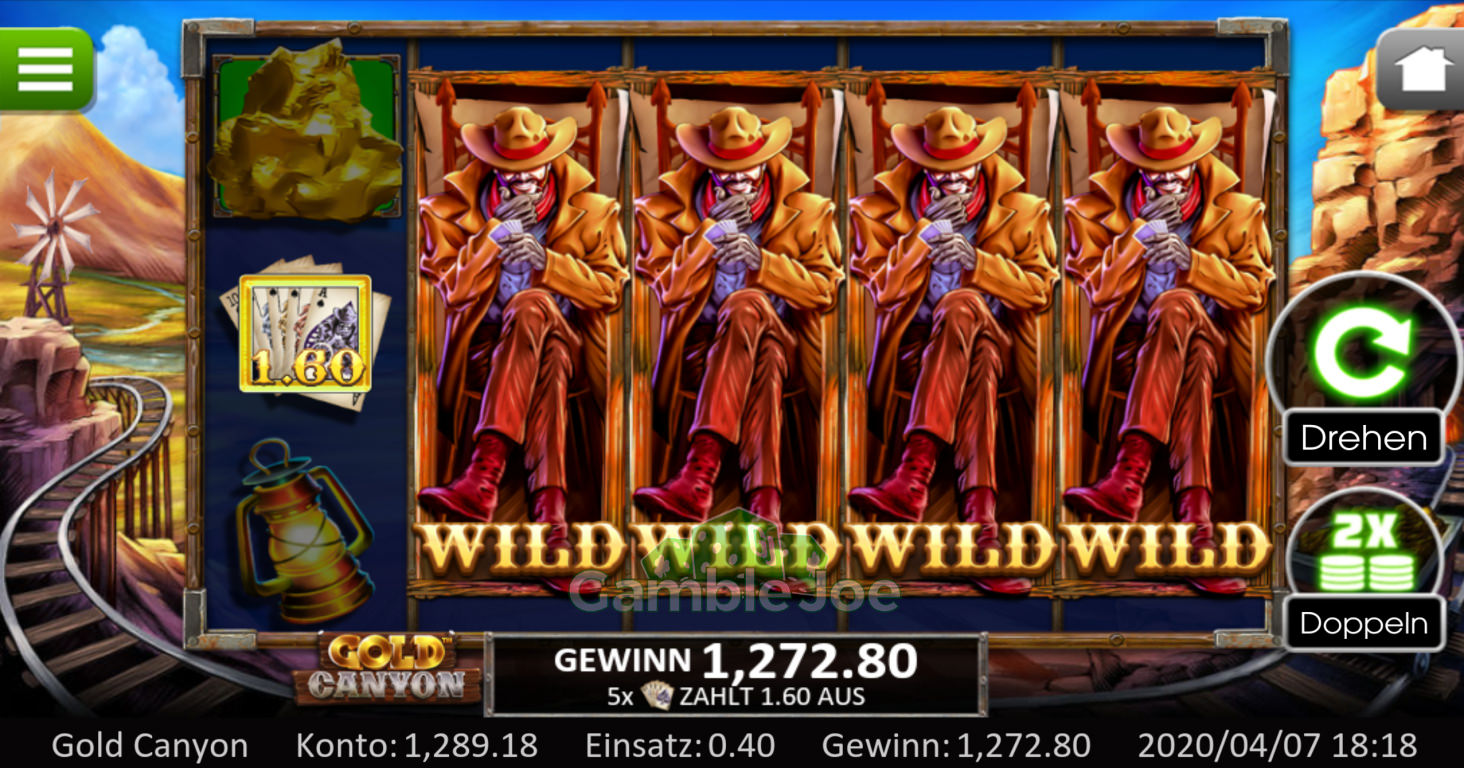 Gold Canyon Gewinnbild von Infinitystar