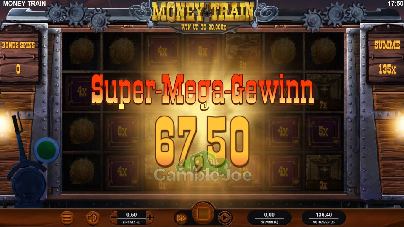Money Train Gewinnbild von Delarion