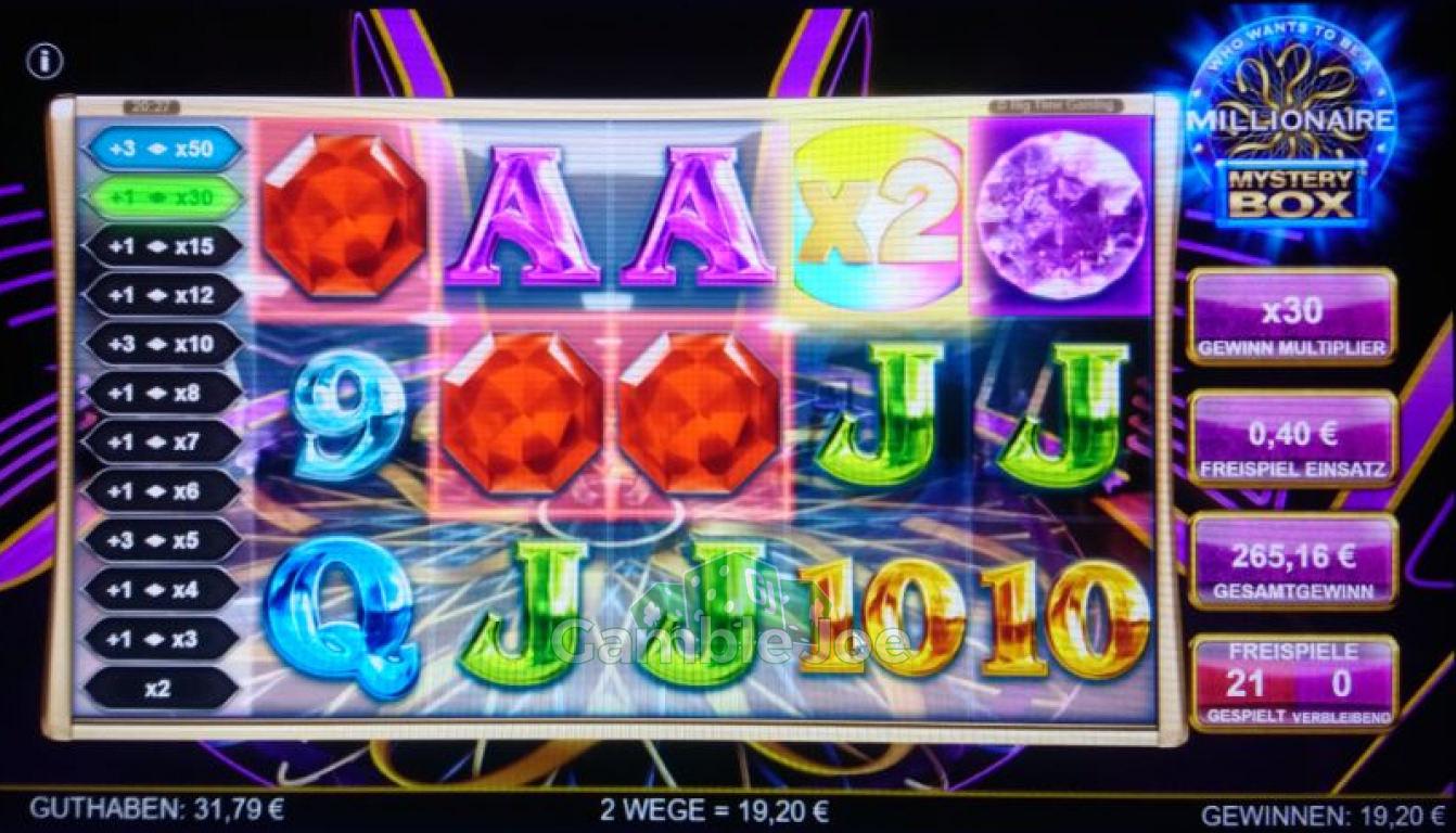 Who Wants to Be a Millionaire Mystery Box Gewinnbild von redriver67