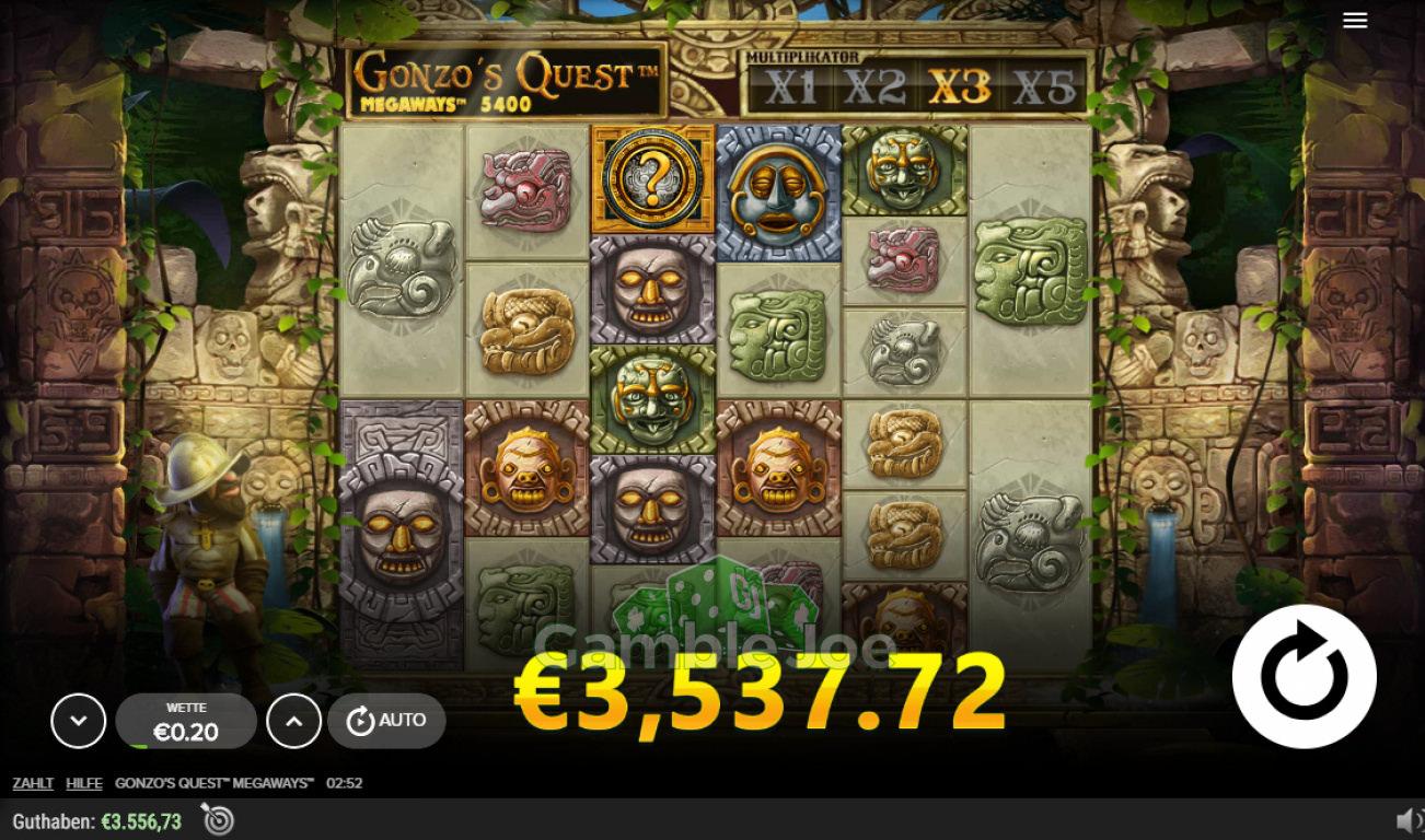 Gonzo's Quest Megaways Gewinnbild von Chrizzi