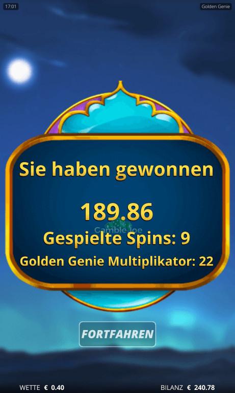 Golden Genie Gewinnbild von Thorin2017