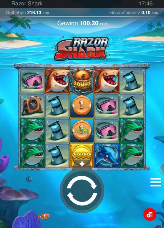Razor Shark Gewinnbild von Eightnine