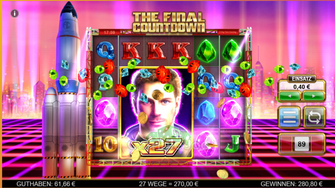 The Final Countdown Gewinnbild von GamblerNeuling