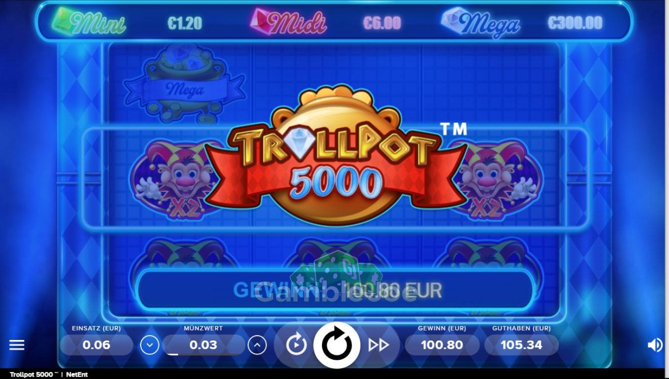 Trollpot 5000 Gewinnbild von slottisissy