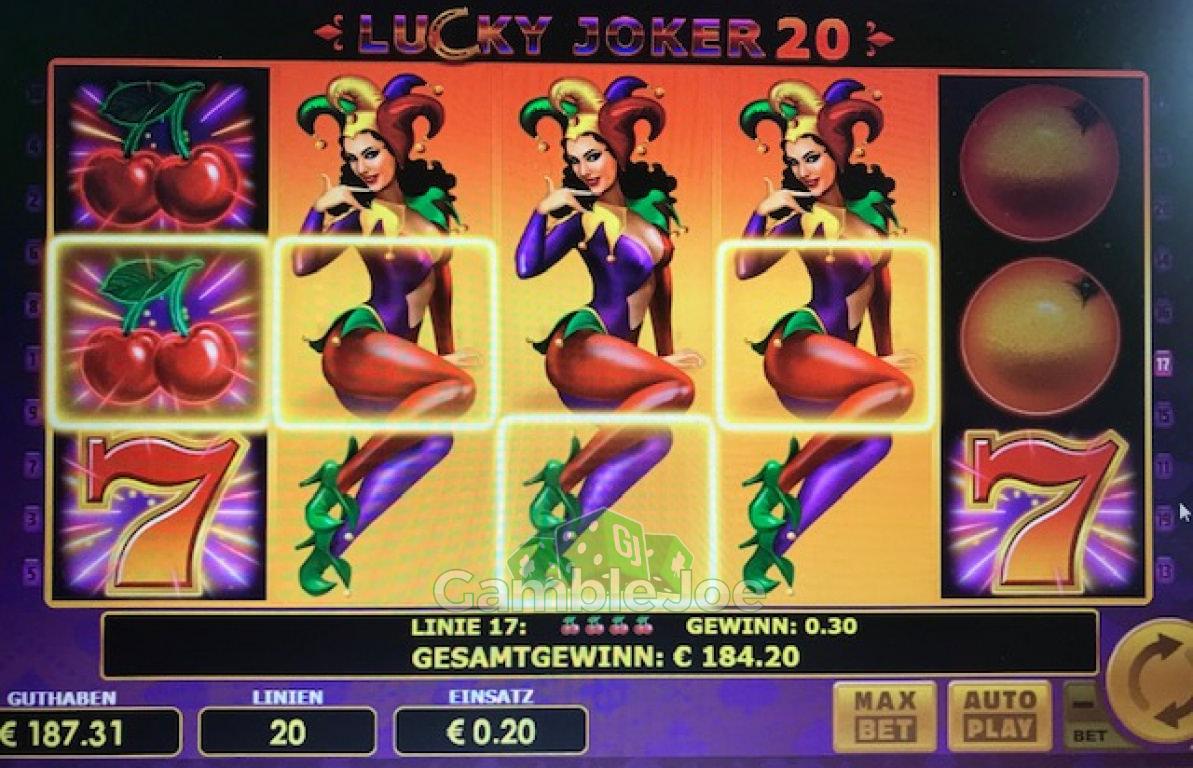 Lucky Joker 20 Gewinnbild von szipp
