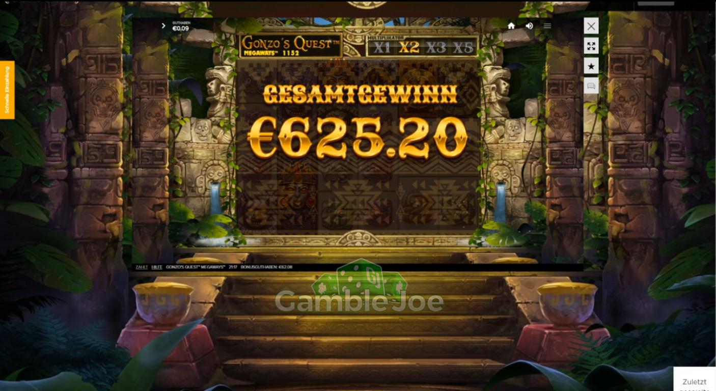 Gonzos Quest Megaways Gewinnbild von derzweifel