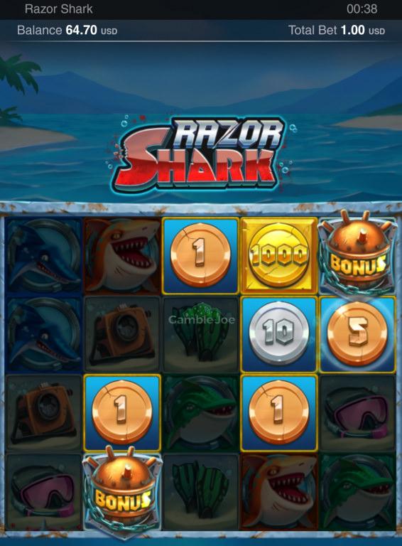 Razor Shark Gewinnbild von Bitcoin