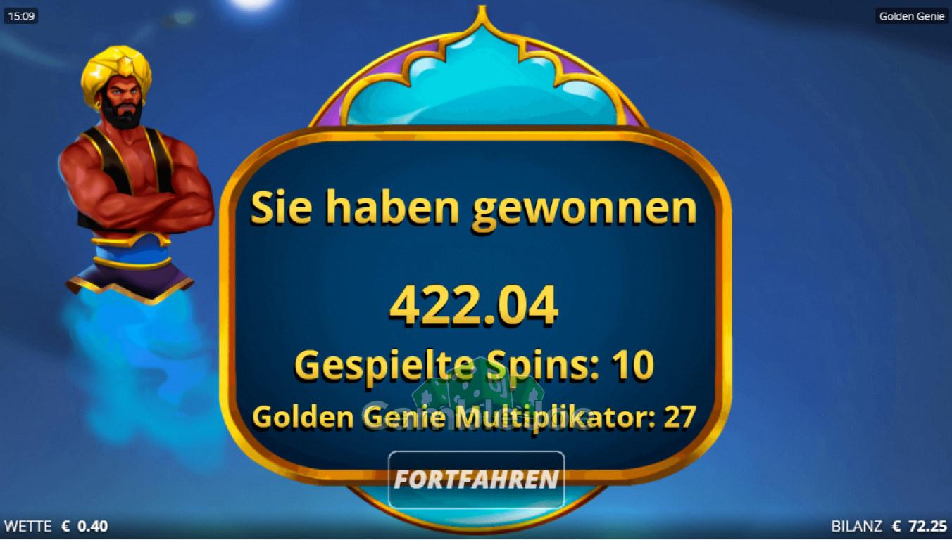 Golden Genie Gewinnbild von myring42