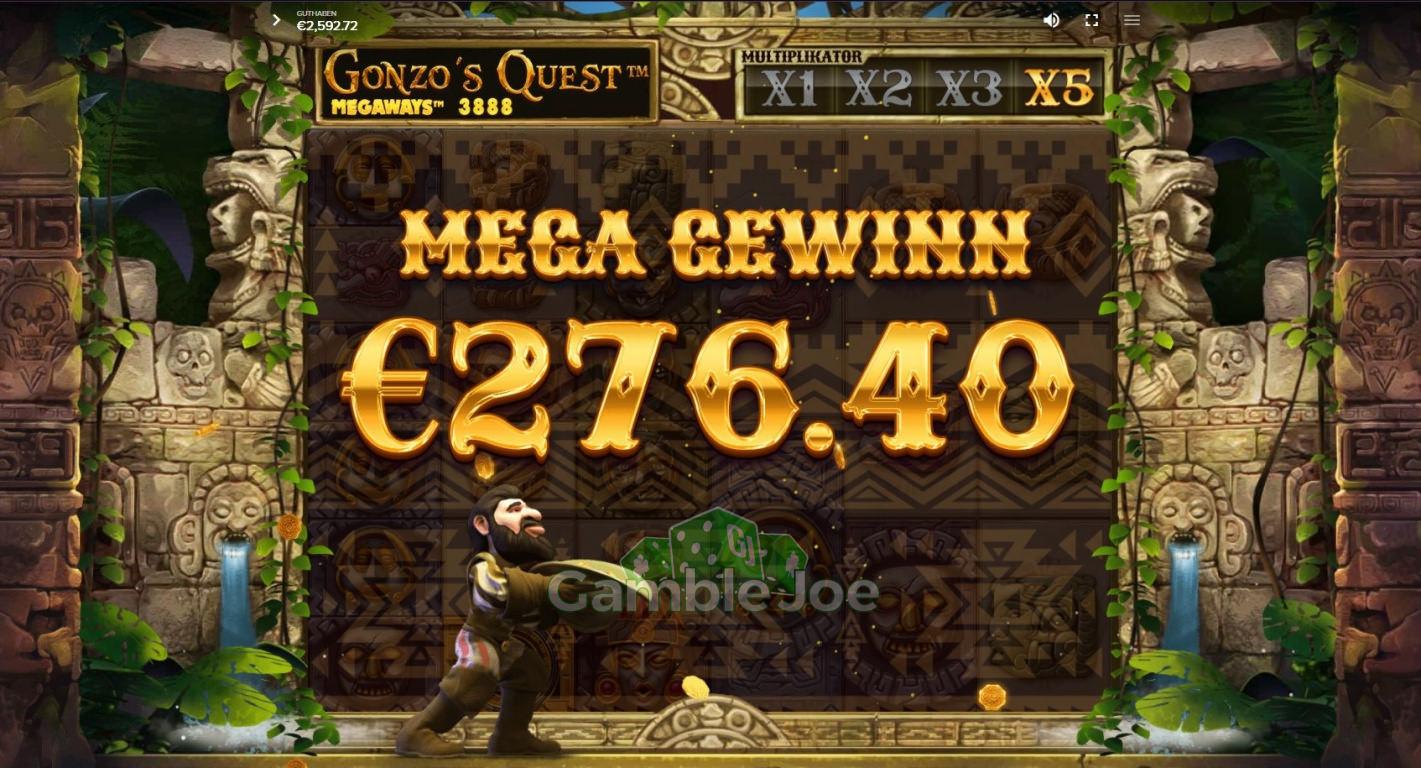 Gonzo's Quest Megaways Gewinnbild von Delarion