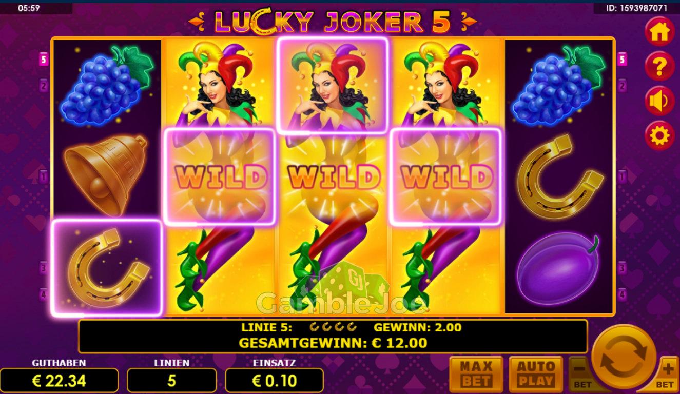 Lucky Joker 5 Gewinnbild von Steinlaus