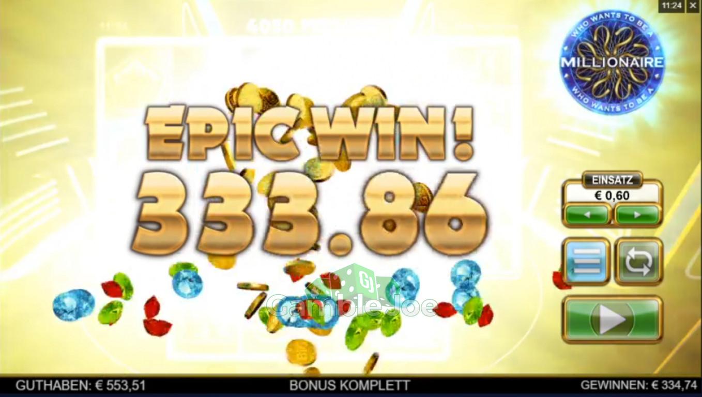Who Wants to Be a Millionaire Gewinnbild von derzweifel